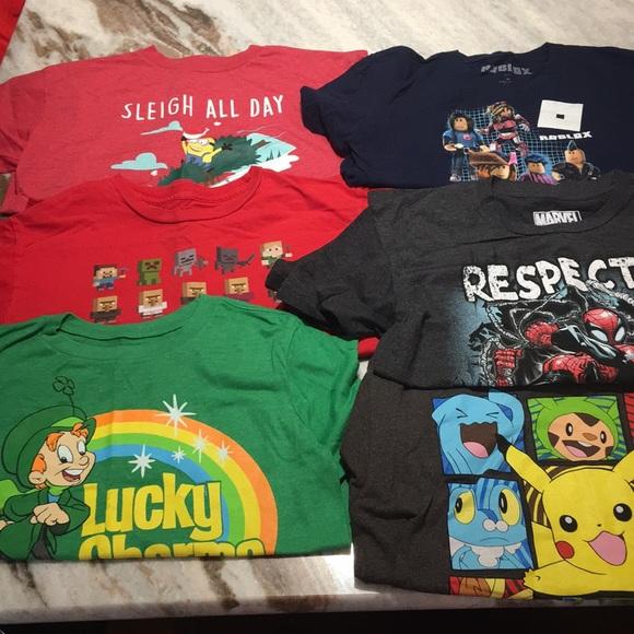 Marvel Roblox Etc Shirts Tops Boys T Shirt Size Medium Poshmark
